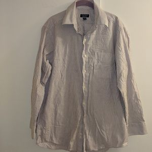 Club Room sz 34-35 striped button down shirt